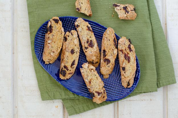 Cherry Hazelnut Biscotti recipe from ChefSarahElizabeth.com