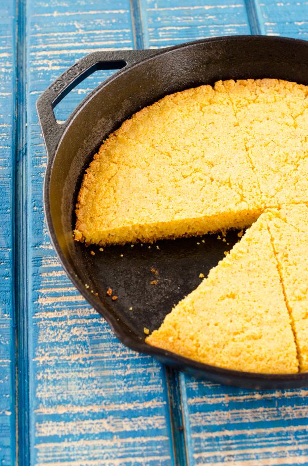 Gramma's Skillet Cornbread recipe from ChefSarahElizabeth.com