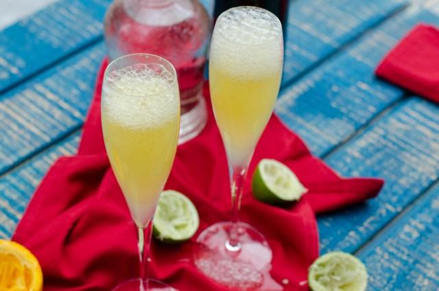 Sparkling Rosy Margarita recipe from chefsarahelizabeth.com