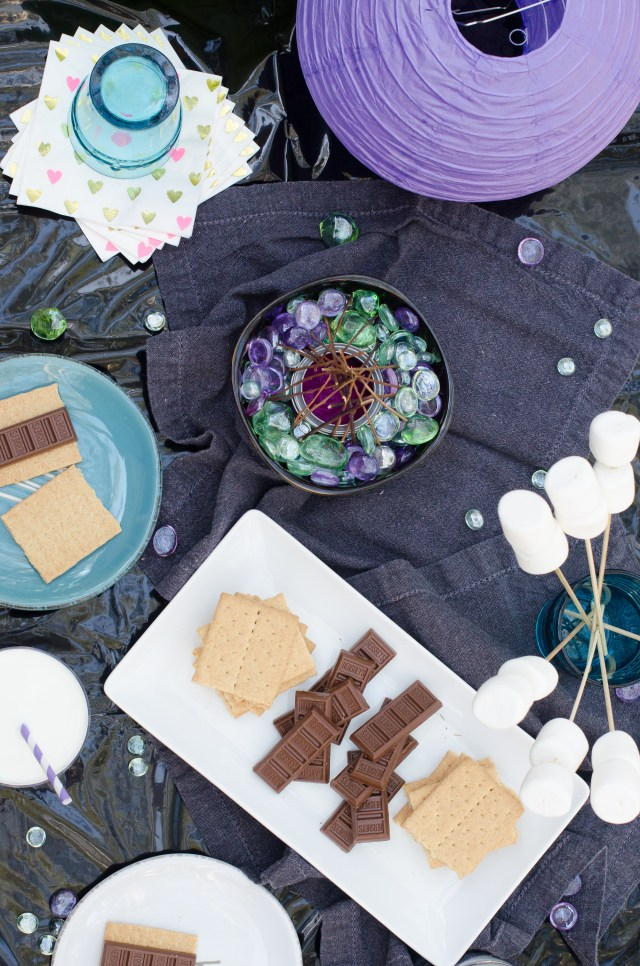 Tabletop S'mores from ChefSarahElizabeth.com