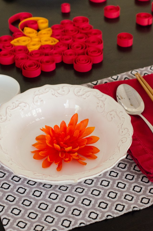 Vietnamese Quilled Tablescape from ChefSarahElizabeth.com