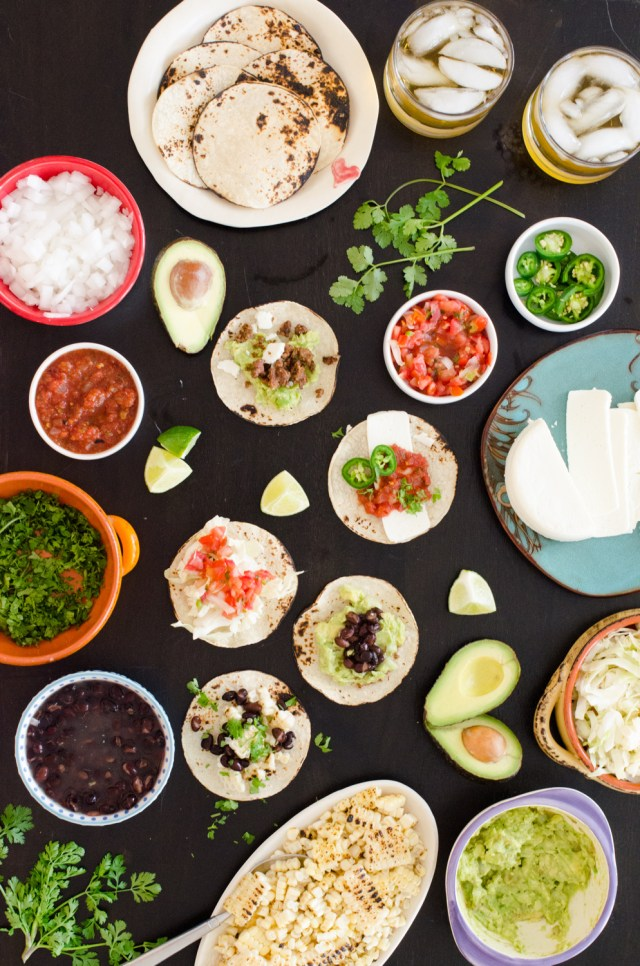 DIY Taco Bar from ChefSarahElizabeth.com