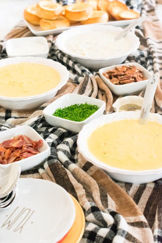 Potato Soup Bar from ChefSarahElizabeth.com