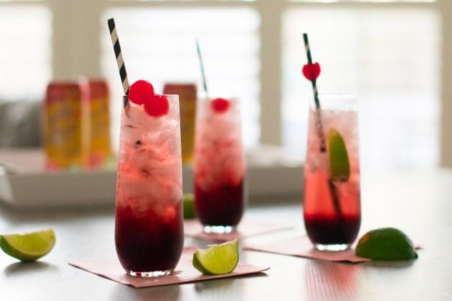 Cherry Fizz Cocktail from ChefSarahElizabeth.com