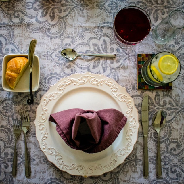 Victorian Inspired Table Setting from chefsarahelizabeth.com