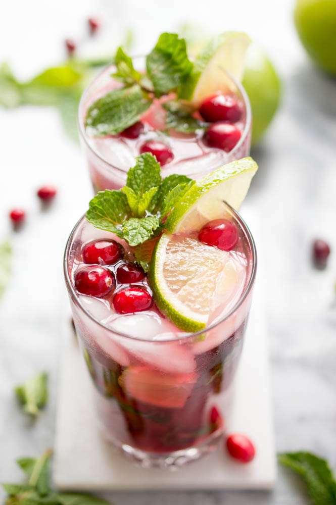 Image result for Lime Pomegranate Mojito