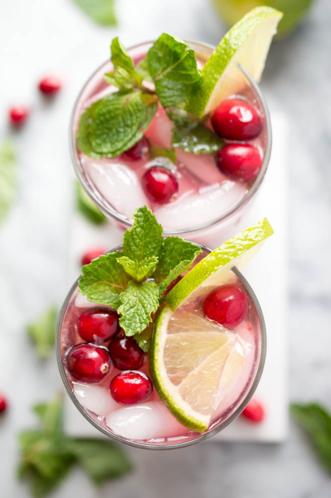 christmas dinner recipes holiday pomegranate cranberry cocktail