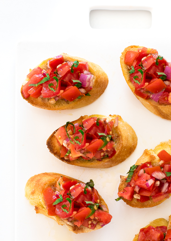 Easy Bruschetta Recipe | chefsavvy.com