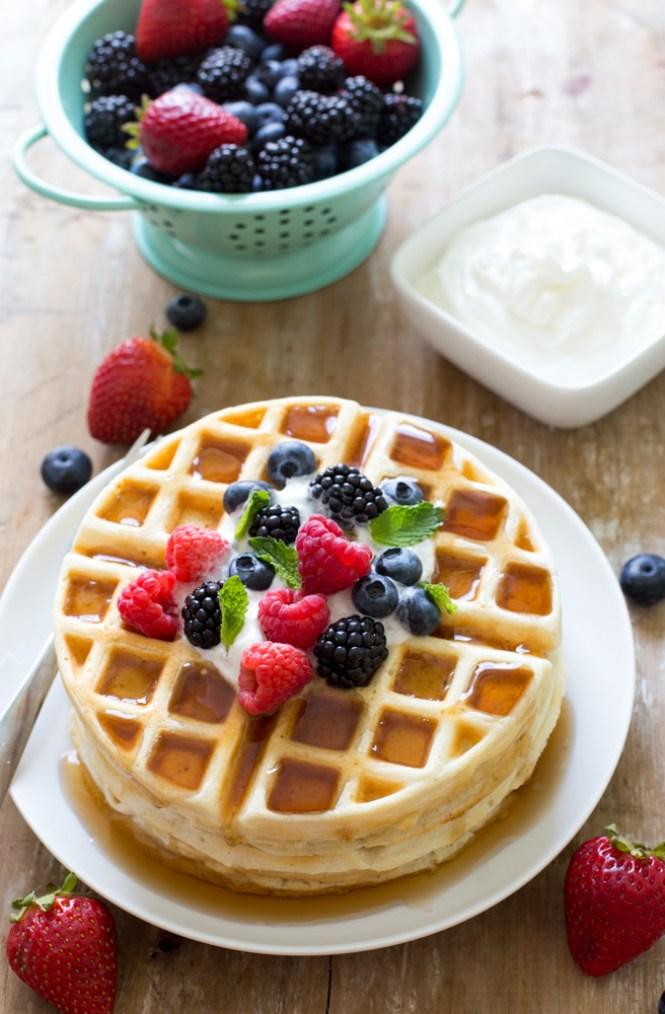 Easy Greek Yogurt Waffles Recipe