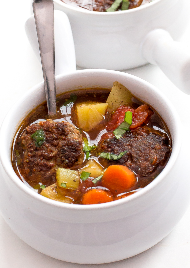 Easy One Pot Meatball Soup | chefsavvy.com