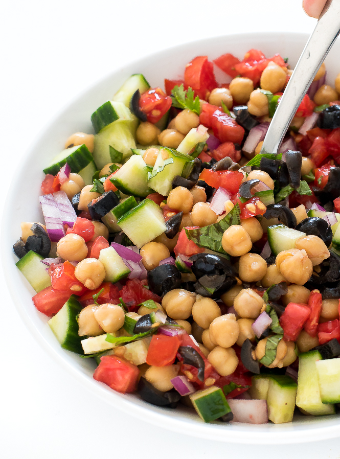 Mediterranean Cucumber Salad | chefsavvy.com