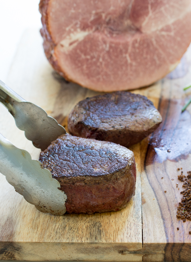 Pan-Seared Ribeye Filets with Espresso Sea Salt | chefsavvy.com #recipe #meat #beef #filet