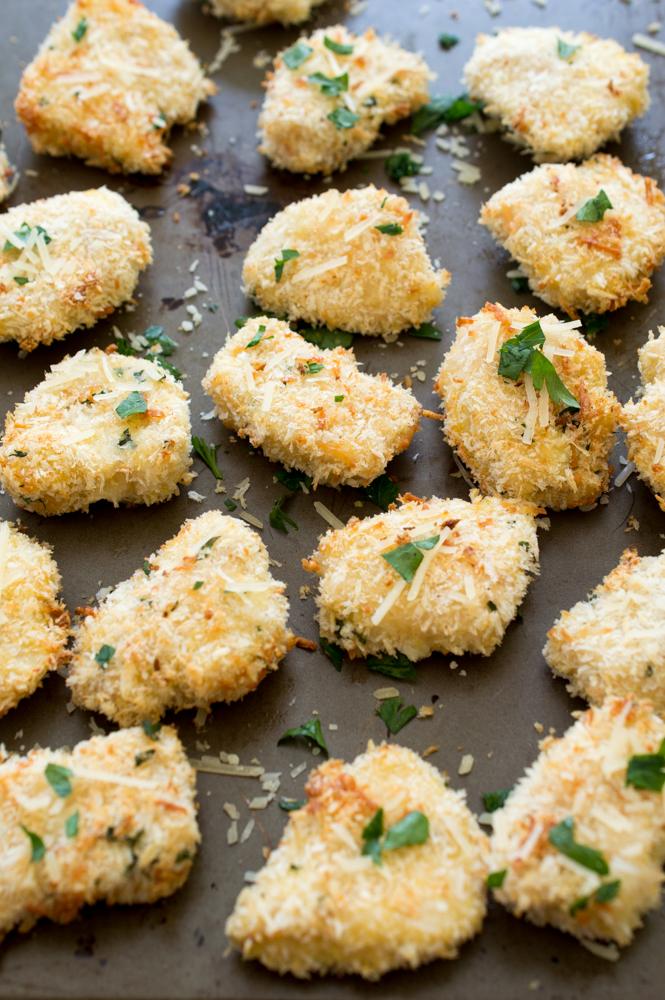 Parmesan Chicken Nuggets   chefsavvy.com