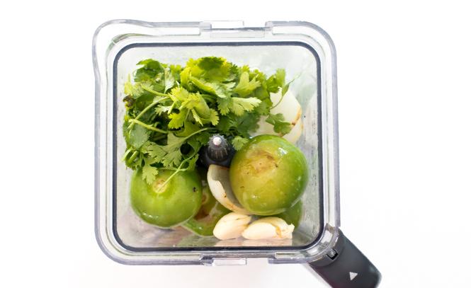 Salsa Verde Ingredients In Blender