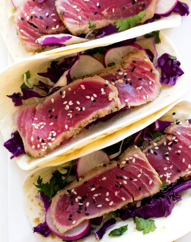 Ahi Tuna Tacos with Sriracha Mayo | chefsavvy.com