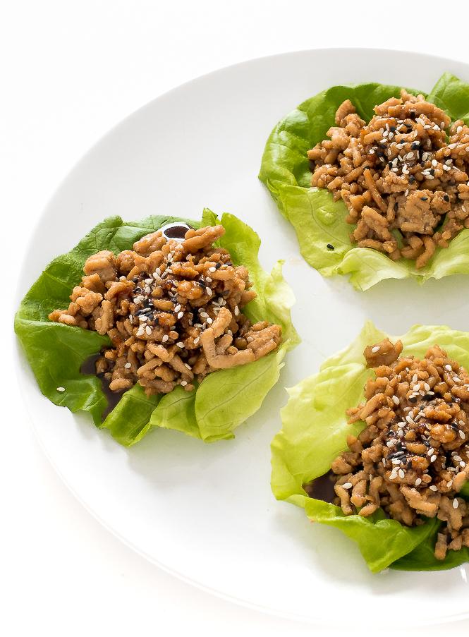 Asian Chicken Lettuce Wraps | chefsavvy.com