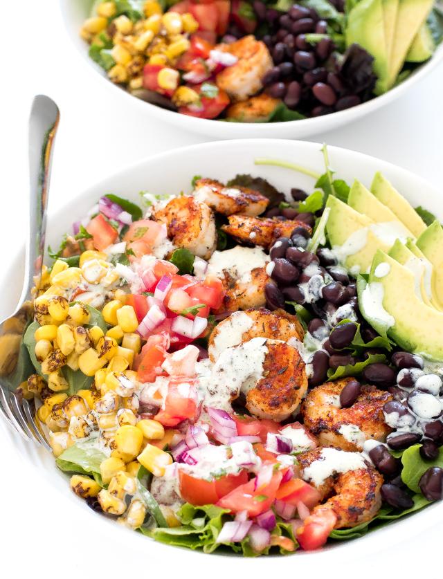 How To Make Blackened Shrimp Salad   chefsavvy.com