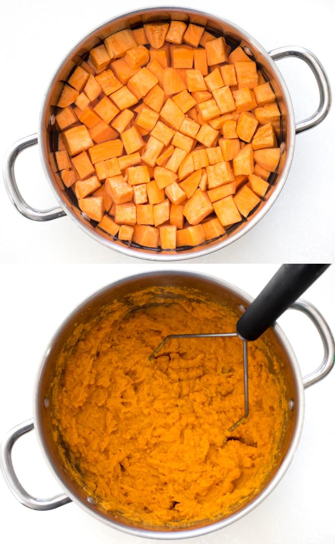 Boiling sweet potatoes | chefsavvy.com