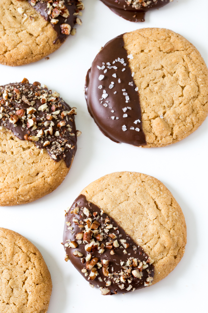 Chewy Chocolate Dipped Cookies | chefsavvy.com