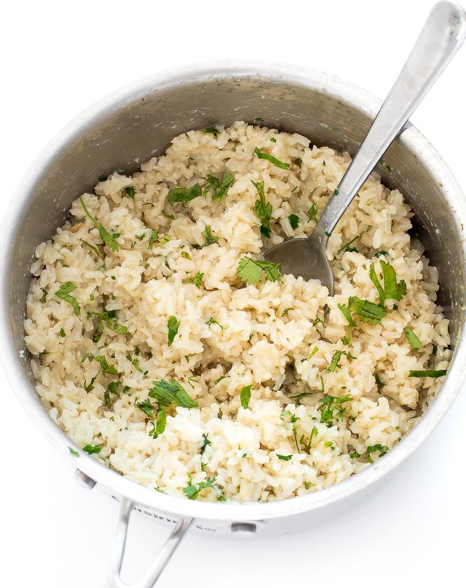 Cilantro Lime Brown Rice | chefsavvy.com