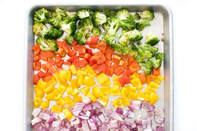 Bow Tie Pasta Salad with Roasted Veggies Recipe | chefsavvy.com