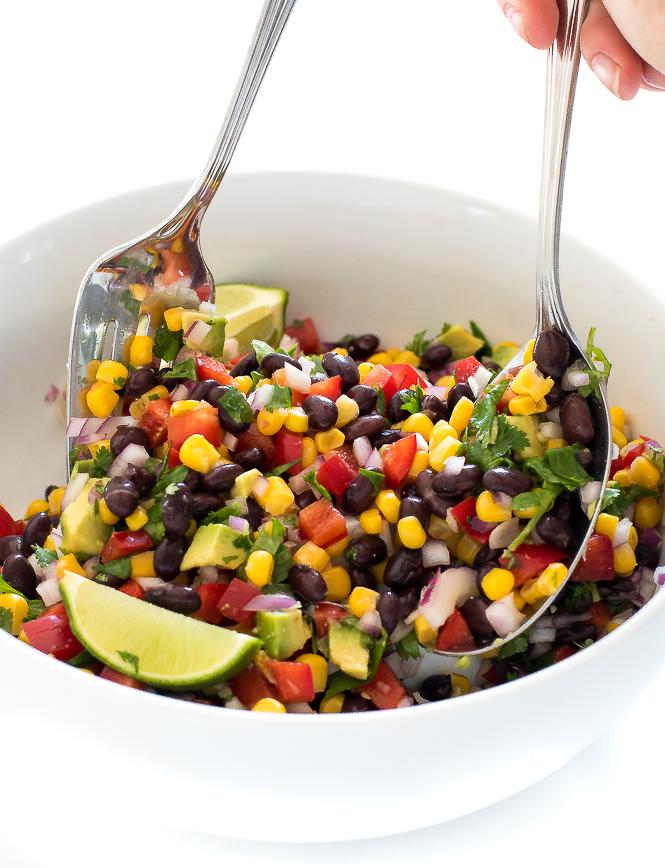 Avocado Corn and Black Bean Salsa | chefsavvy.com