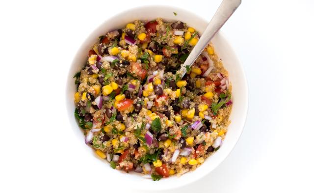 Tomato and Black Bean Quinoa Salad