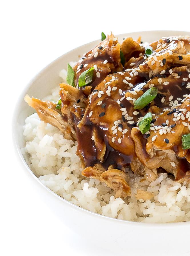Slow Cooker Teriyaki Chicken Thighs | chefsavvy.com