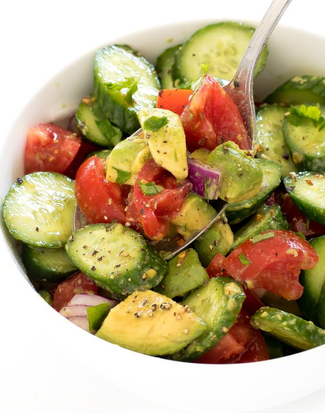 How To Make Cucumber Avocado Salad (recipe)