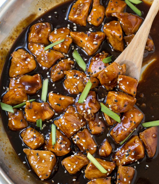 Bourbon Chicken Recipe | chefsavvy.com