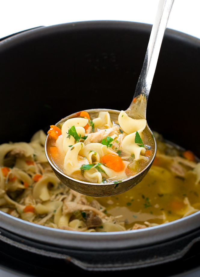 Instant Pot Chicken Noodle Soup | chefsavvy.com
