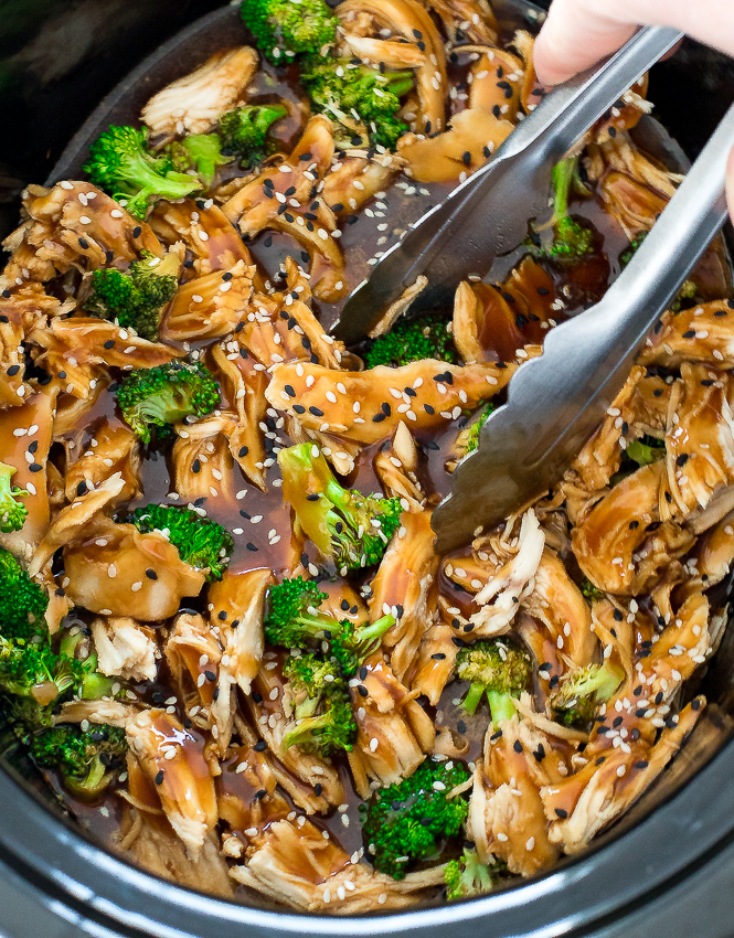 Easy Slow Cooker Mongolian Chicken | chefsavvy.com