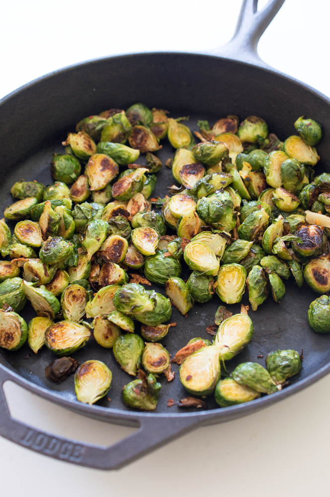 Garlic Roasted Brussels Sprouts | chefsavvy.com
