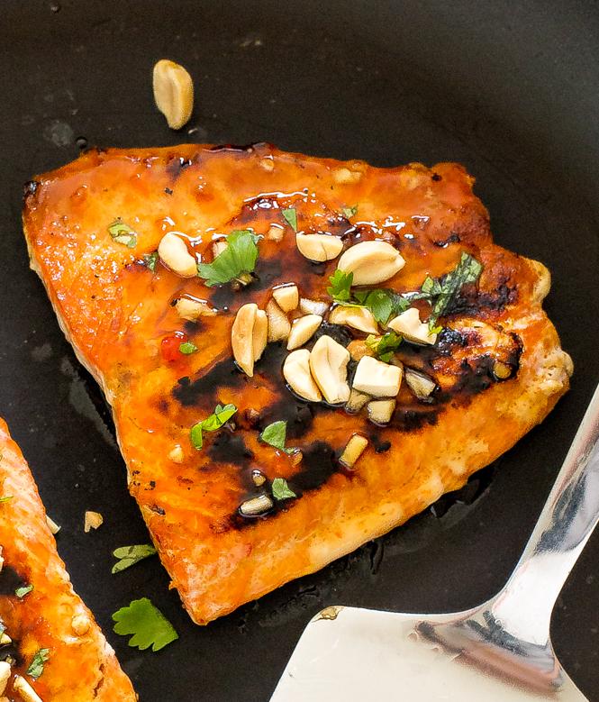 20 Minute Thai Salmon | chefsavvy.com