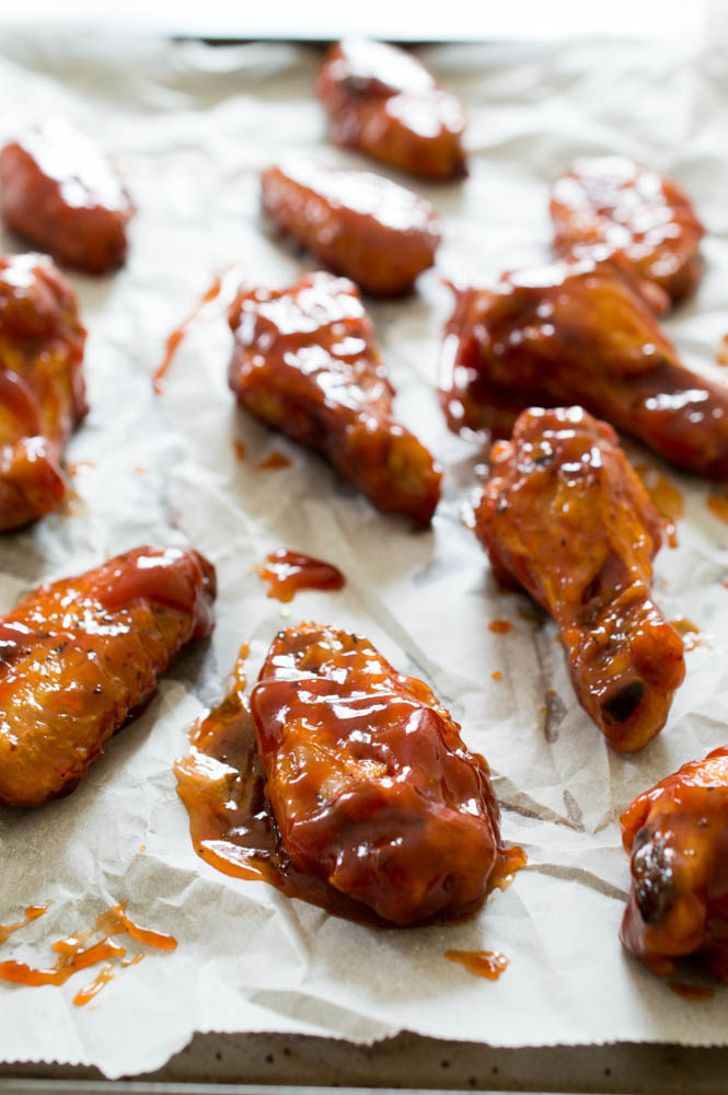 Crispy Baked Honey Chipotle Chicken Wings   chefsavvy.com #chicken #wings #recipe #honey #chipotle #appetizer