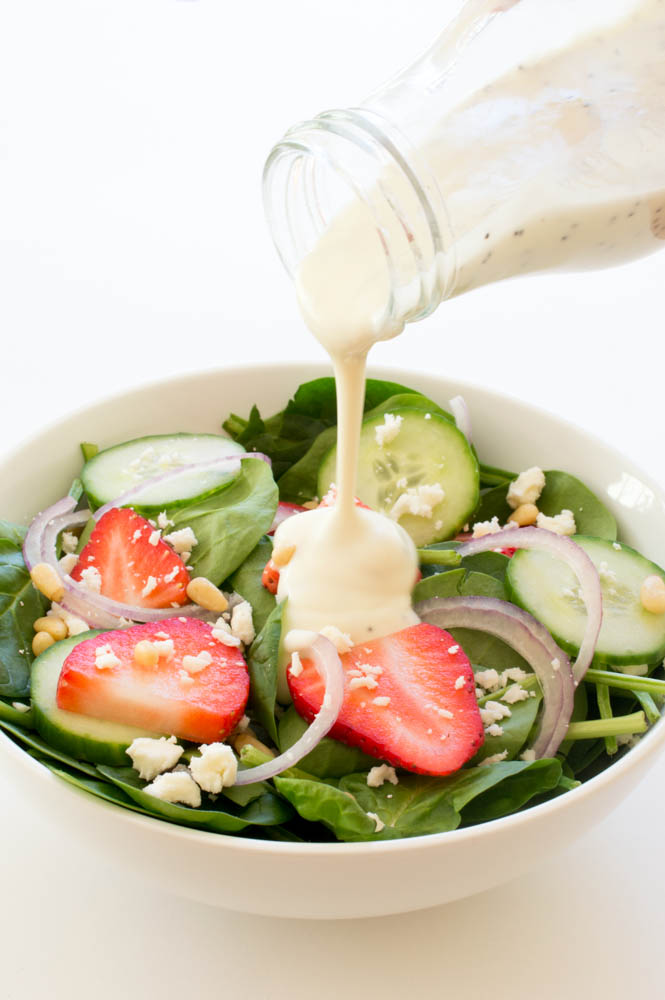 christmas dinner recipes strawberry salad with creamy poppyseed dressing
