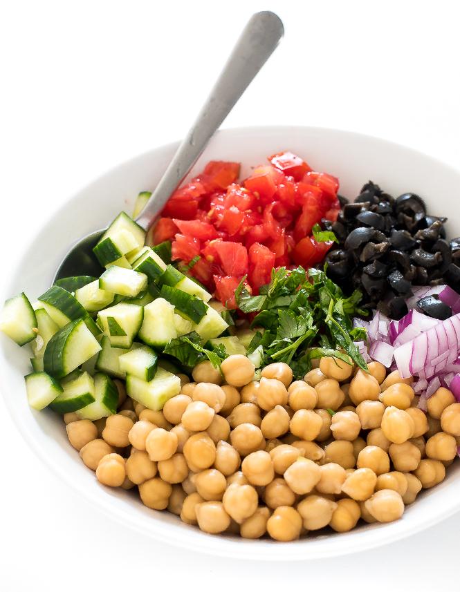 Mediterranean Salad Recipe | chefsavvy.com