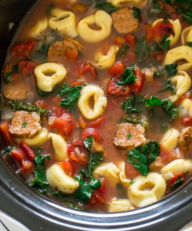 Italian Tortellini and Kale Soup | chefsavvy.com