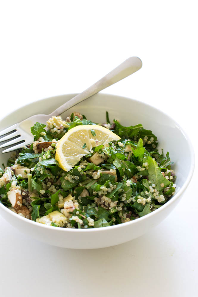 Kale Quinoa and Avocado Salad | chefsavvy.com