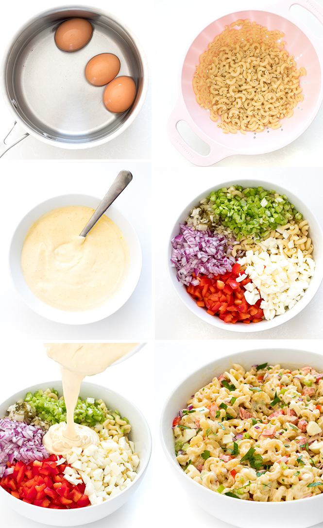 Macaroni Salad Step by Step Pictures | chefsavvy.com
