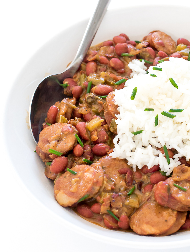 Easy Red Beans and Rice | chefsavvy.com