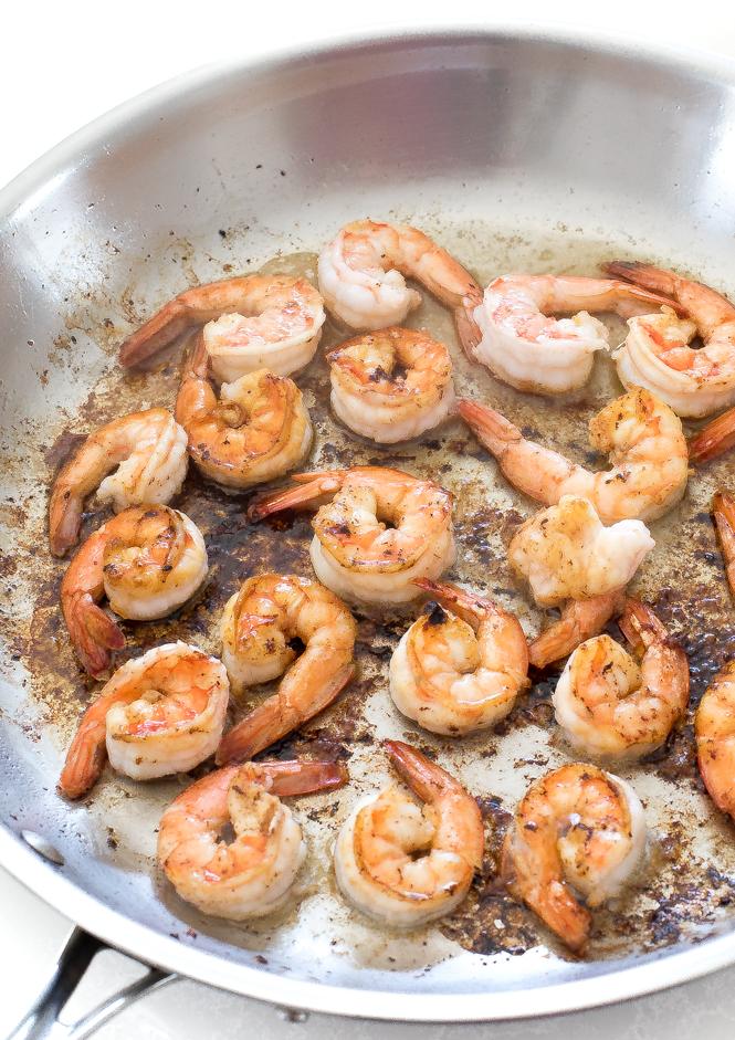 Sautéed Shrimp with Bacon Drippings