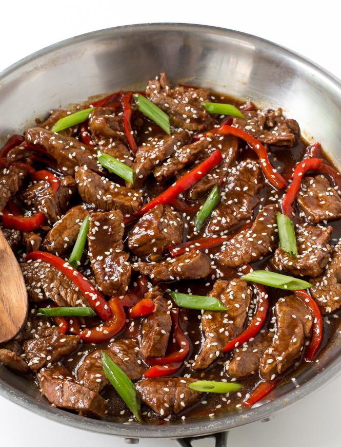 Sesame Beef Recipe | chefsavvy.com