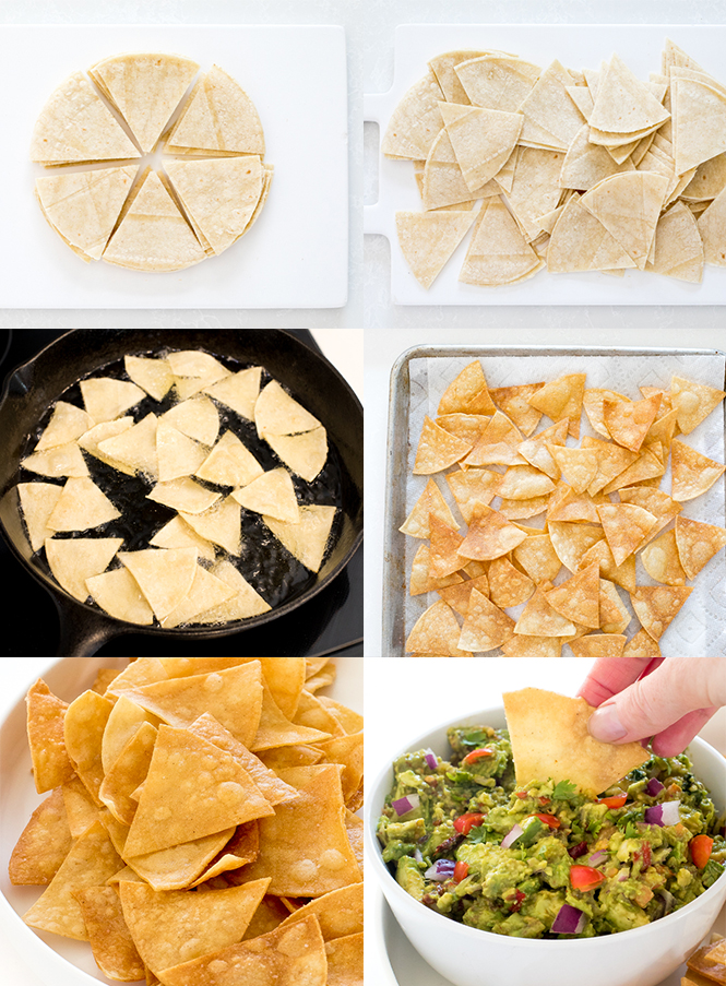 Step by step pictures of homemade tortilla chips | chefsavvy.com