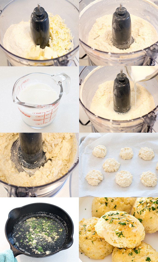 Step by step pictures of Garlic Cheese Biscuits | chefsavvy.com