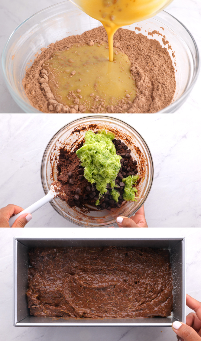 Step by Step Pictures of Healthy Double Chocolate Zucchini Bread