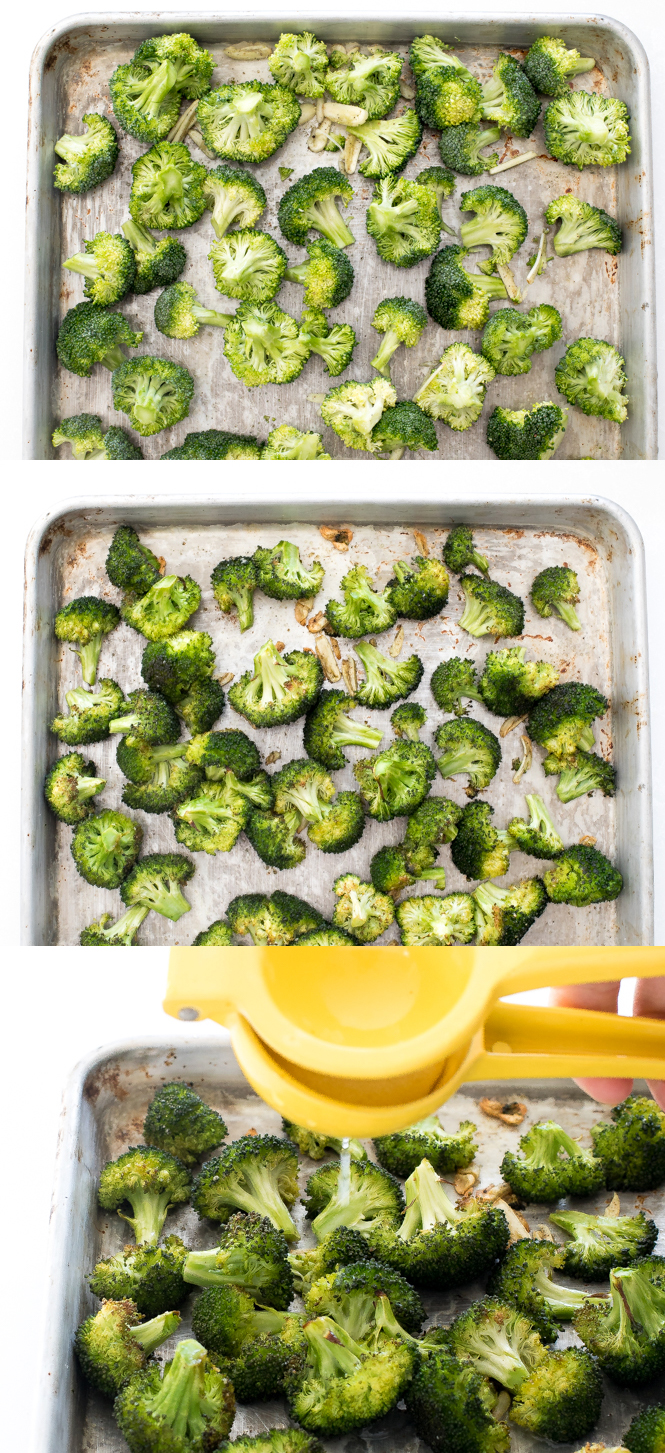 Step by step pictures of oven roasted broccoli | chefsavvy.com