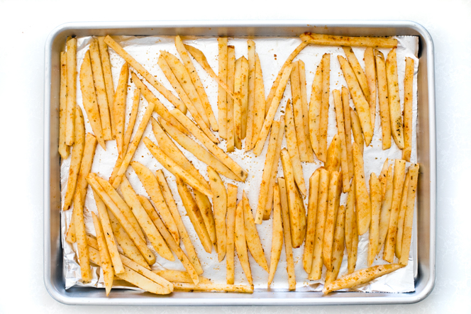 Fries on sheet tray | chefsavvy.com