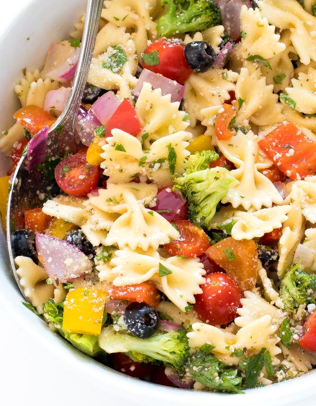 Bow Tie Pasta Salad Recipe | chefsavvy.com