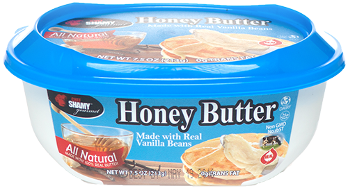 Try Chef Shamy Gourmet Honey Butter with Vanilla Bean on French Toast.